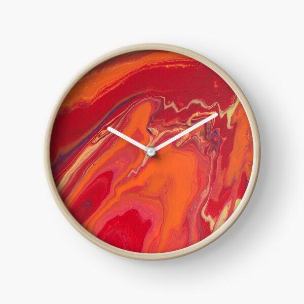 Sunset Geode Acrylic Painting Clock