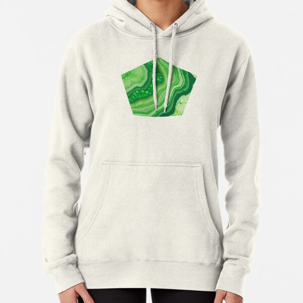 Green Geode Acrylic Pour Pullover Hoodie