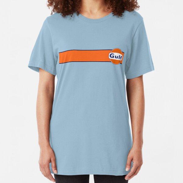 Gulf horizontal stripe Slim Fit T-Shirt