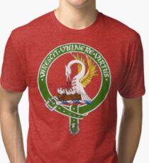 Clan Stewart Scottish Crest Tri-blend T-Shirt