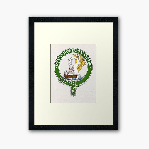 Clan Stewart Scottish Crest Framed Art Print