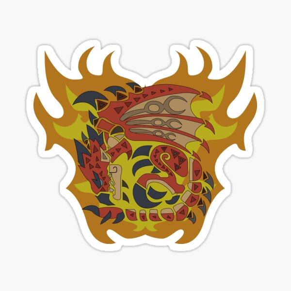 Burning Wyvern Rathalos Sticker