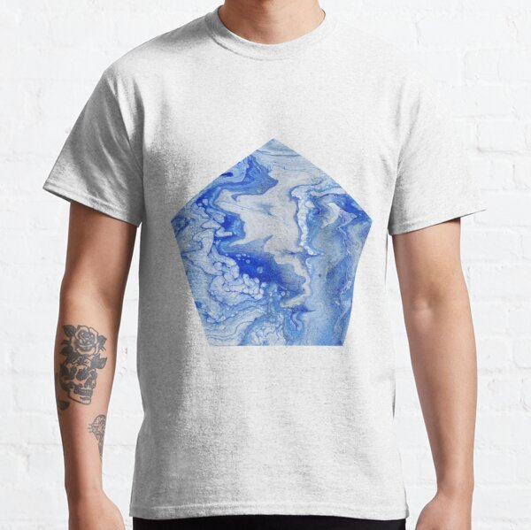 Wintry Fairy Land: Acrylic Pour Painting Classic T-Shirt