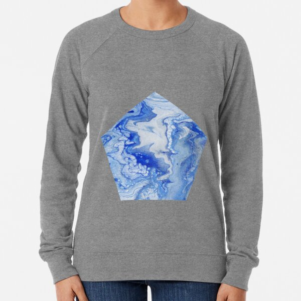 Wintry Fairy Land: Acrylic Pour Painting Lightweight Sweatshirt