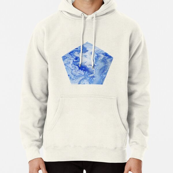 Wintry Fairy Land: Acrylic Pour Painting Pullover Hoodie