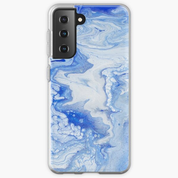 Wintry Fairy Land: Acrylic Pour Painting Samsung Galaxy Soft Case