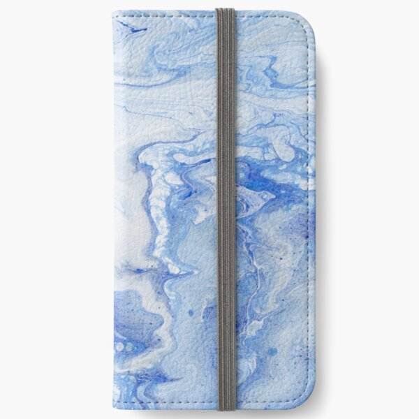 Wintry Fairy Land: Acrylic Pour Painting iPhone Wallet