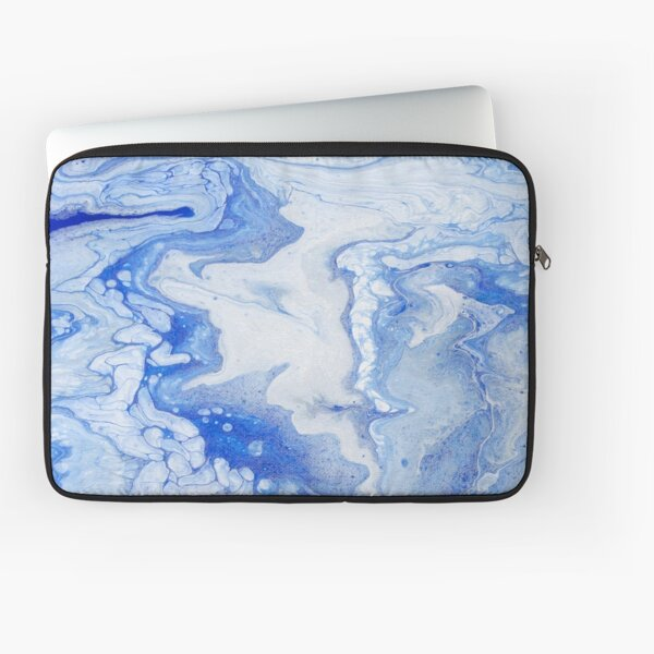 Wintry Fairy Land: Acrylic Pour Painting Laptop Sleeve