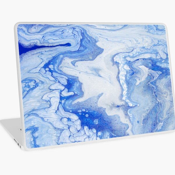 Wintry Fairy Land: Acrylic Pour Painting Laptop Skin