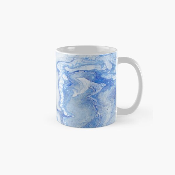 Wintry Fairy Land: Acrylic Pour Painting Classic Mug