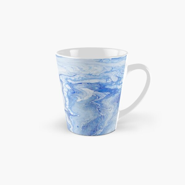 Wintry Fairy Land: Acrylic Pour Painting Tall Mug