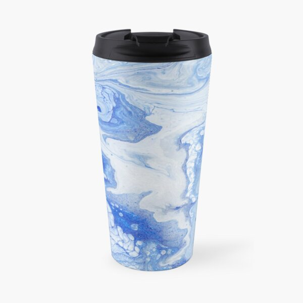 Wintry Fairy Land: Acrylic Pour Painting Travel Mug
