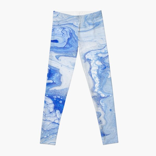 Wintry Fairy Land: Acrylic Pour Painting Leggings