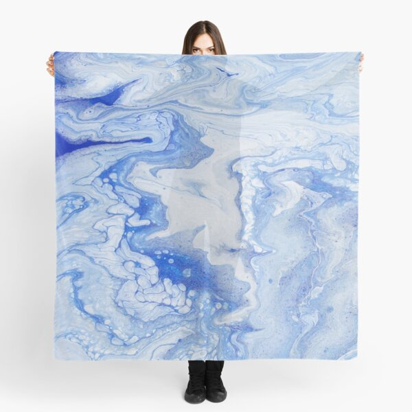 Wintry Fairy Land: Acrylic Pour Painting Scarf