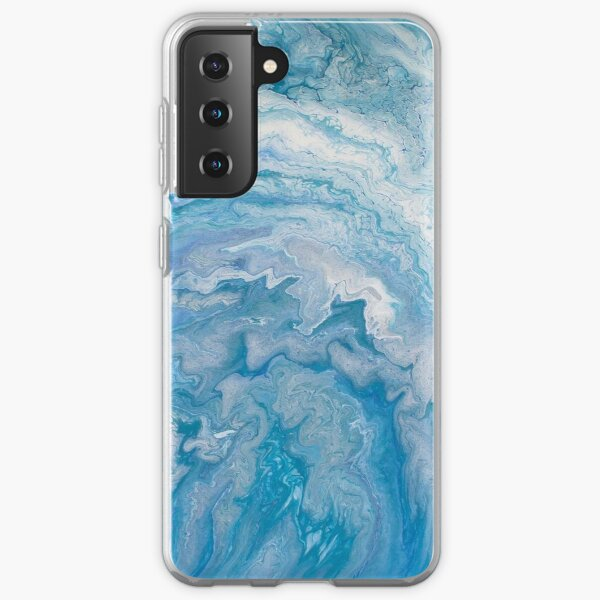 Icy Blue World: Acrylic Pour Painting Samsung Galaxy Soft Case