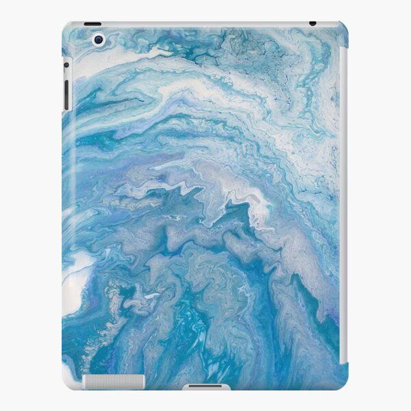 Icy Blue World: Acrylic Pour Painting iPad Snap Case