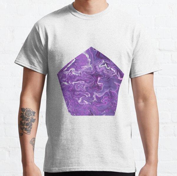 Dancing Iris: Acrylic Pour Painting Classic T-Shirt