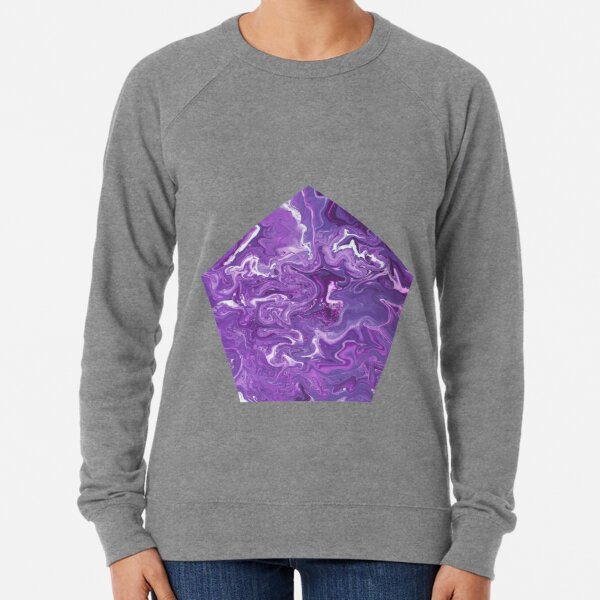 Dancing Iris: Acrylic Pour Painting Lightweight Sweatshirt