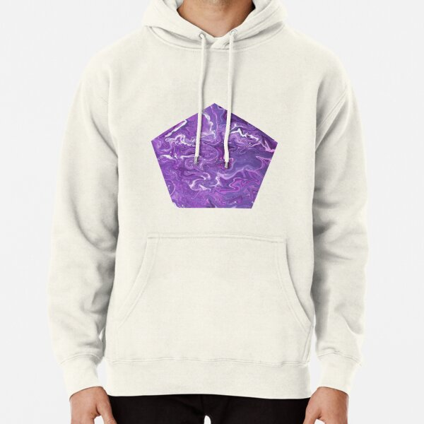 Dancing Iris: Acrylic Pour Painting Pullover Hoodie