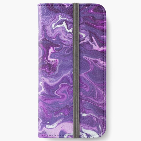 Dancing Iris: Acrylic Pour Painting iPhone Wallet