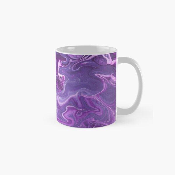 Dancing Iris: Acrylic Pour Painting Classic Mug