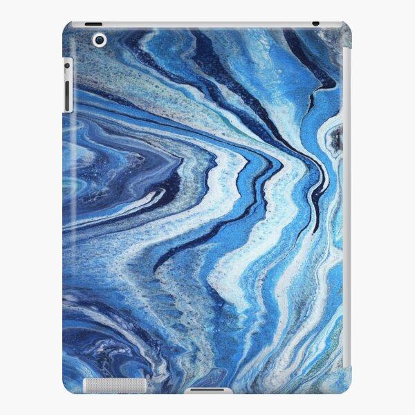 Blue Geode Sparkle: Acrylic Pour Painting iPad Snap Case