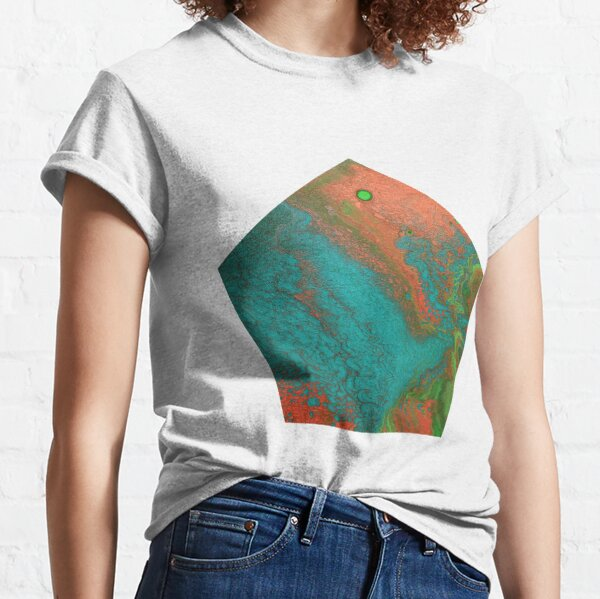 Rusty Jade: Acrylic Pour Painting Classic T-Shirt