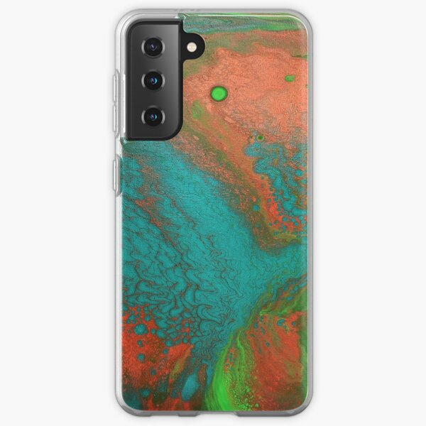 Rusty Jade: Acrylic Pour Painting Samsung Galaxy Soft Case