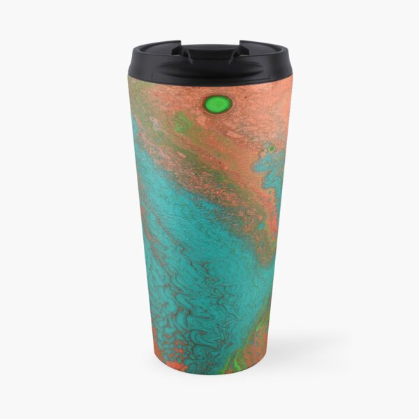 Rusty Jade: Acrylic Pour Painting Travel Mug