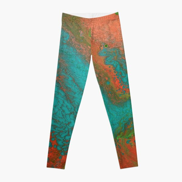 Rusty Jade: Acrylic Pour Painting Leggings
