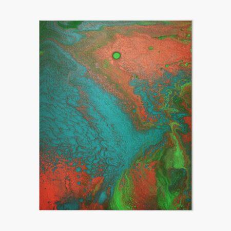 Rusty Jade: Acrylic Pour Painting Art Board Print