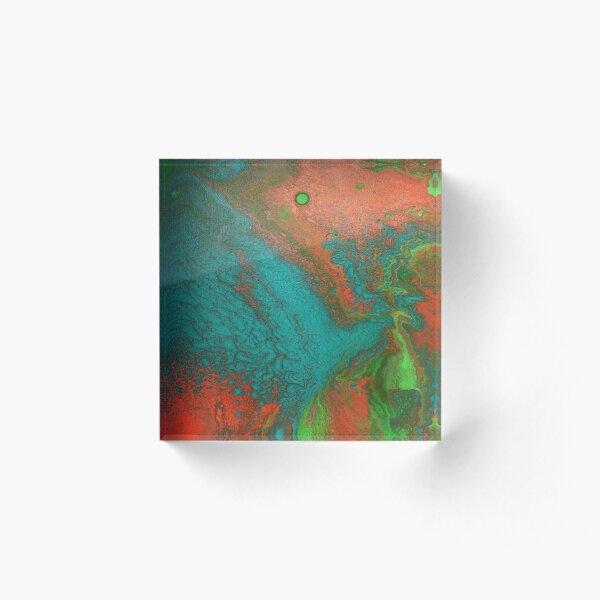 Rusty Jade: Acrylic Pour Painting Acrylic Block