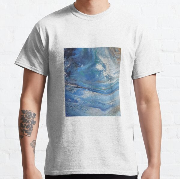 Sea Spray: Acrylic Pour Painting Classic T-Shirt