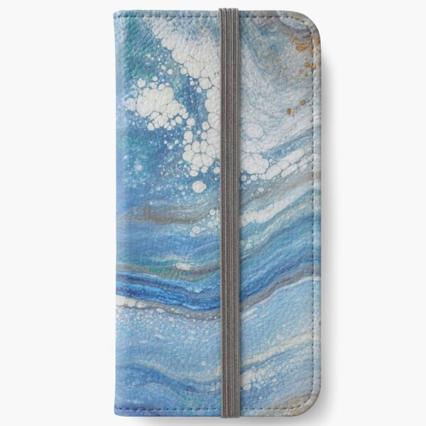 Sea Spray: Acrylic Pour Painting iPhone Wallet