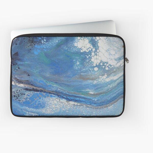 Sea Spray: Acrylic Pour Painting Laptop Sleeve