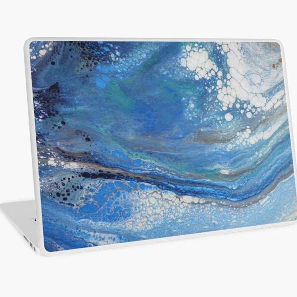 Sea Spray: Acrylic Pour Painting Laptop Skin