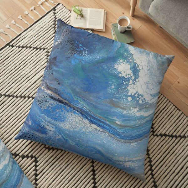 Sea Spray: Acrylic Pour Painting Floor Pillow