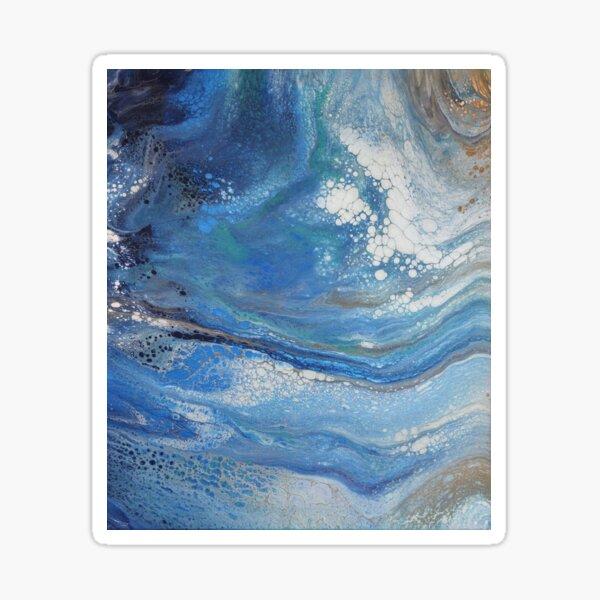 Sea Spray: Acrylic Pour Painting Sticker