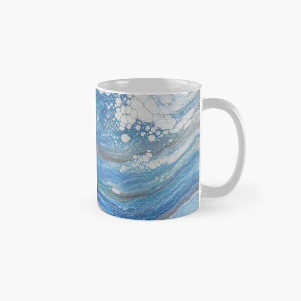 Sea Spray: Acrylic Pour Painting Classic Mug