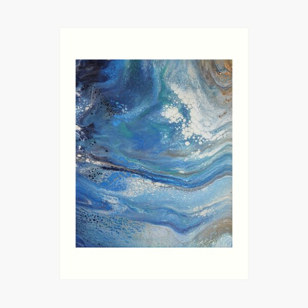 Sea Spray: Acrylic Pour Painting Art Print