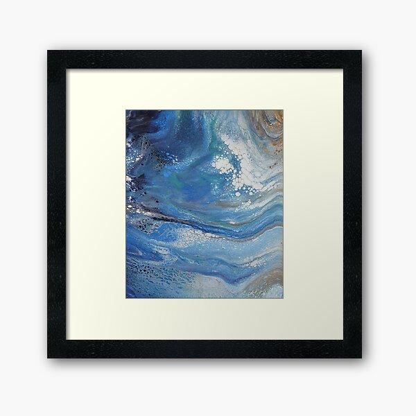 Sea Spray: Acrylic Pour Painting Framed Art Print