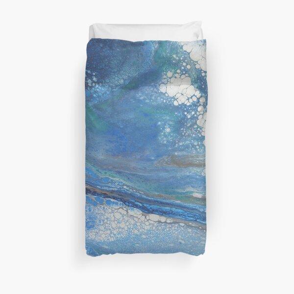 Sea Spray: Acrylic Pour Painting Duvet Cover