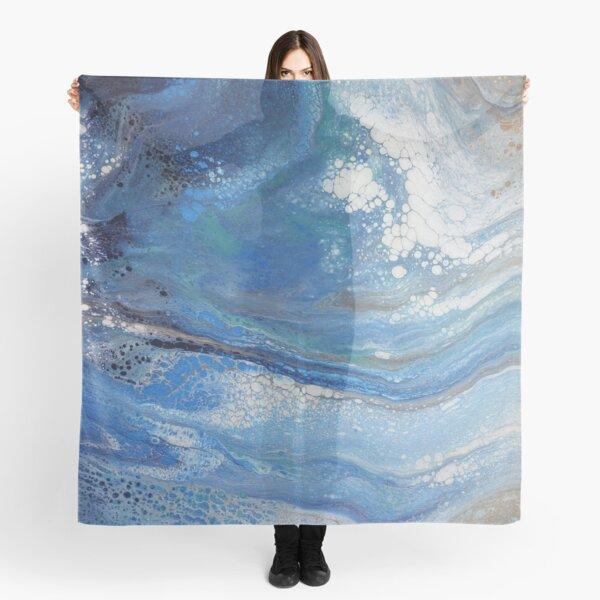 Sea Spray: Acrylic Pour Painting Scarf