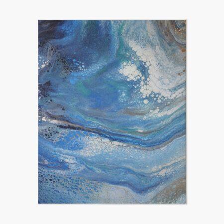 Sea Spray: Acrylic Pour Painting Art Board Print