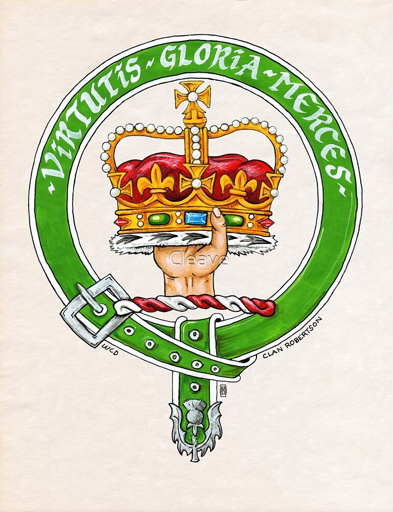 Scottish Crest of Clan Robertson by Cleave