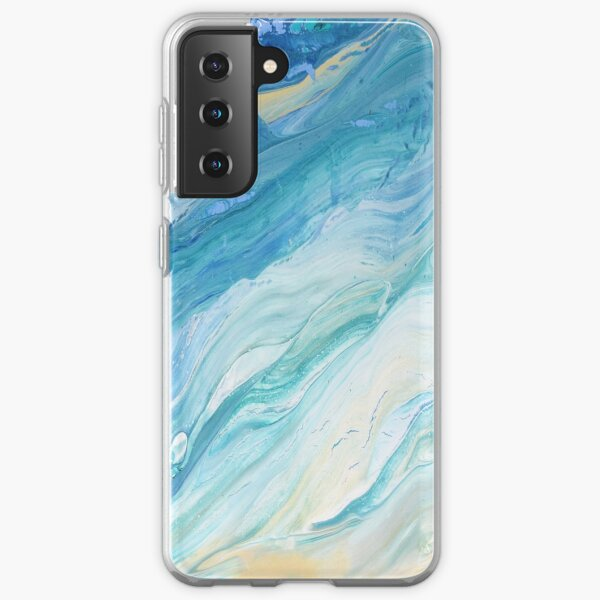 Calm Seas: Acrylic Pour Painting Samsung Galaxy Soft Case