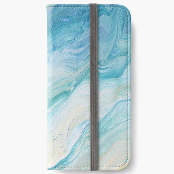 Calm Seas: Acrylic Pour Painting iPhone Wallet