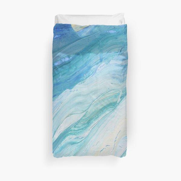 Calm Seas: Acrylic Pour Painting Duvet Cover