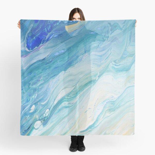 Calm Seas: Acrylic Pour Painting Scarf