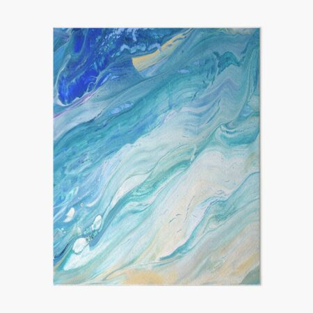 Calm Seas: Acrylic Pour Painting Art Board Print